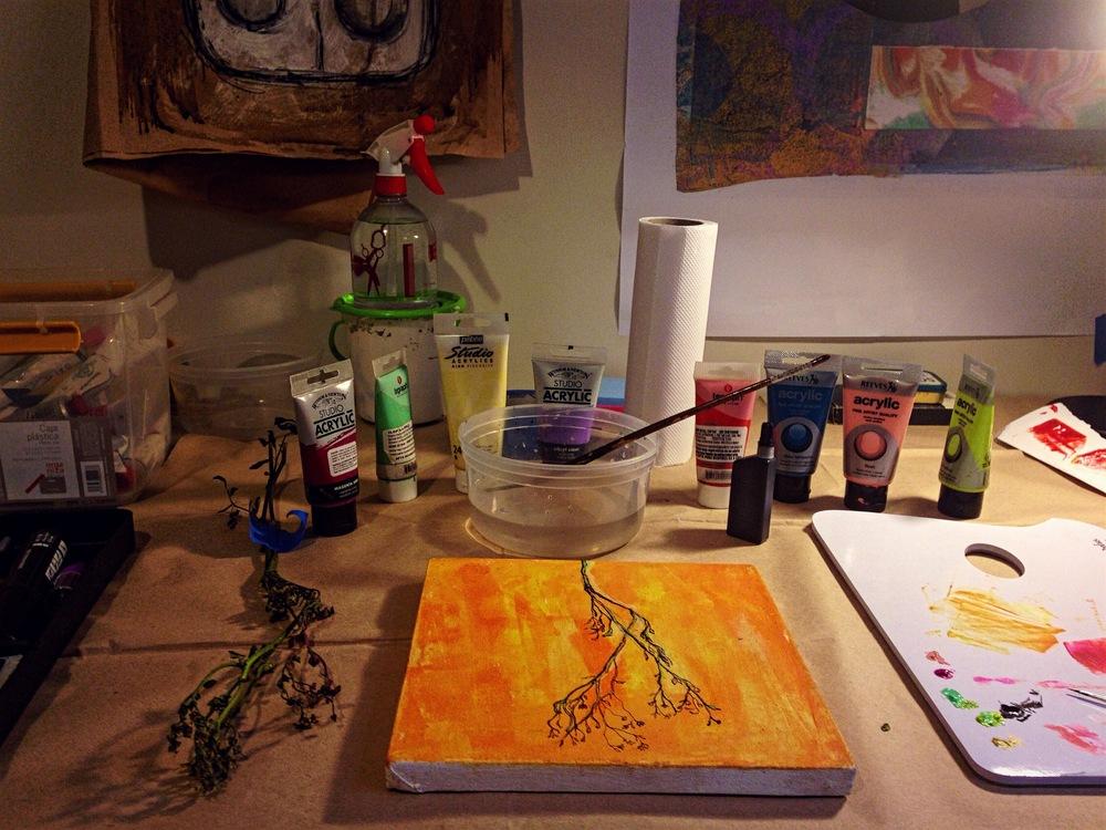 My studio...