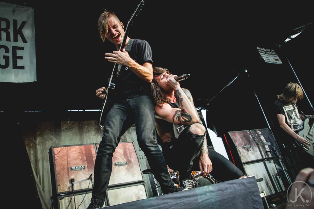 Elliott Gruenberg and Beau Bokan (Blessthefall. Vans Warped Tour. July 29th, 2015)