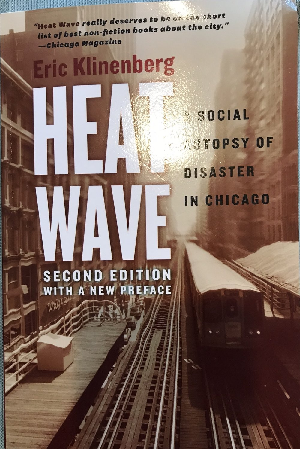 Check out this very interesting book: https://www.amazon.com/Heat-Wave-Autopsy-Disaster-Chicago/dp/022627618X/ref=sr_1_3?s=books&ie=UTF8&qid=1539710977&sr=1-3&keywords=eric+klinenberg.