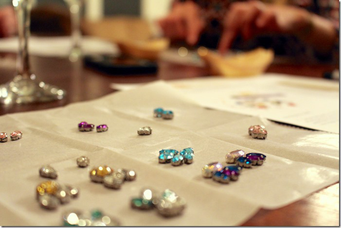 Laying out the earrings was the best part! I could see my visions coming to life right before                                           my eyes!