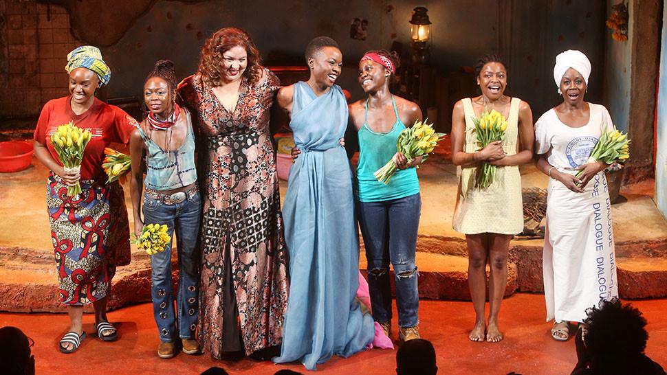 Saycon Sengbloh, Zainab Jah, Liesl Tommy, Danai Gurira, Lupita Nyong'o, Pascale Armand and Akosua Busia (Joseph Marzullo/WENN)
