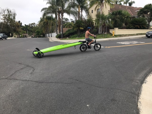 Eric electric bike surf board paddle boarding bike trailer sea excursion IMG_1452.JPG