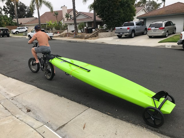 Eric electric bike surf board paddle boarding bike trailer sea excursion IMG_1447.JPG