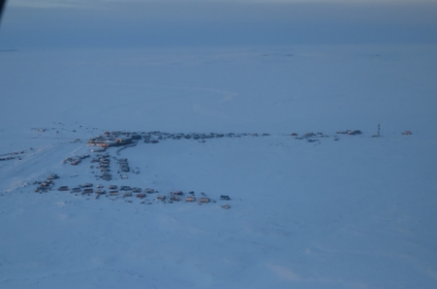 The village of Chefornak as seen during the flight in