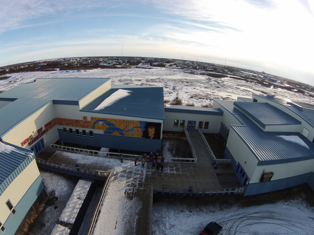The view from above the High School in Bethel