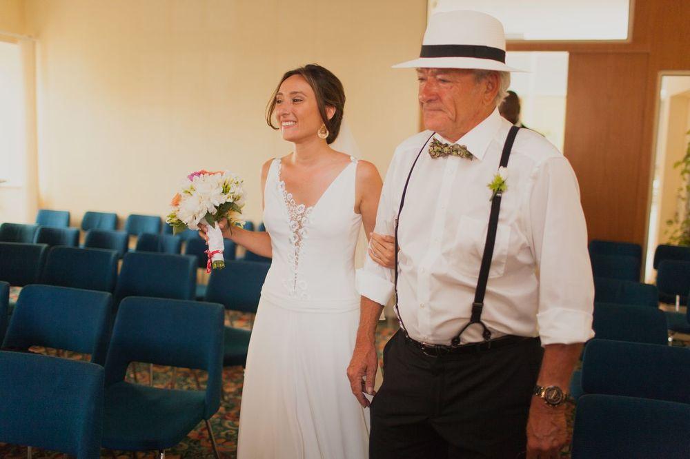La mariée et son père  - Mariage Aurélie & Alexandre