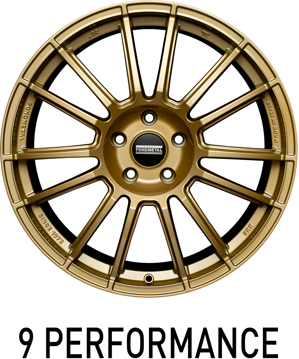 Light Italian alloy wheel fit for performance passenger car applications