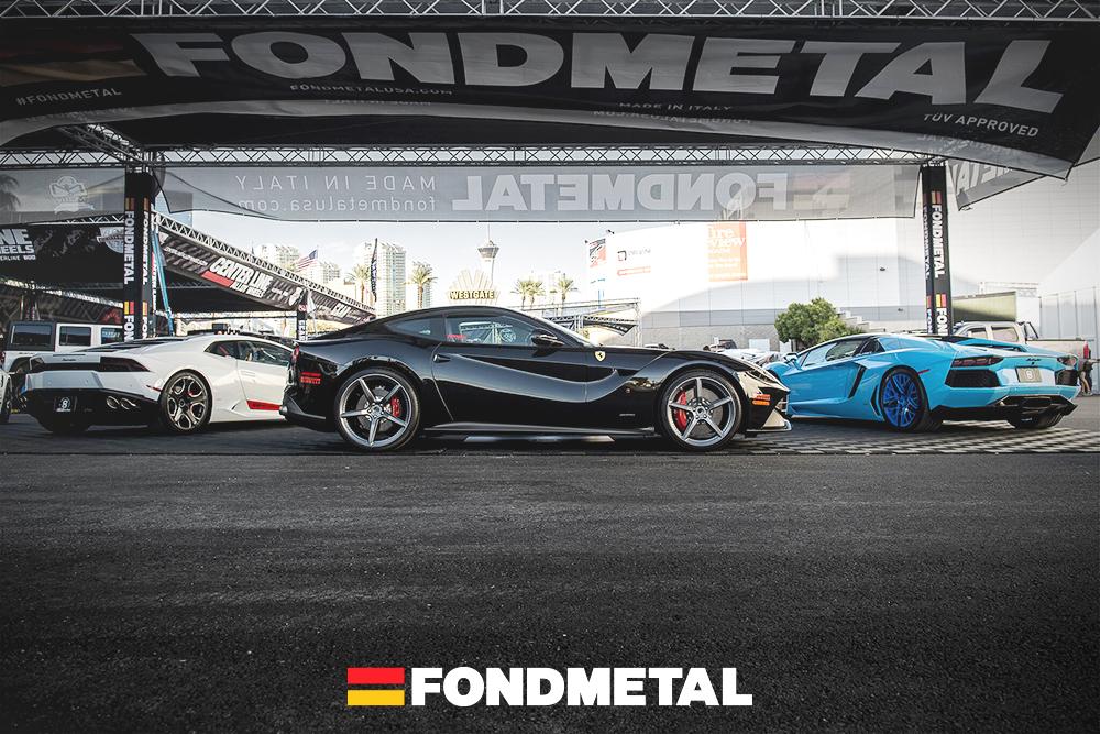 Ferrari-F12-Lamborghini-Huracan-Aventador-SEMA-2015-Fondmetal-Booth