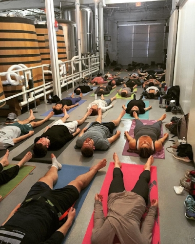 Savasana at Right Proper Brewery Brookland