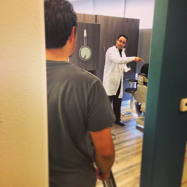 Dr. Siami in his film debut. Coming to Yelp soon. #dentist #cardinal-dental #smile #commercial