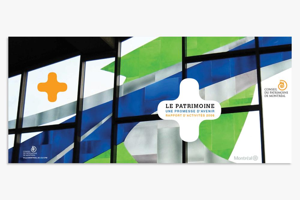 Conseil du patrimoine de Montréal | Print Design − Activity R