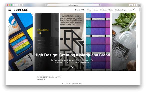 Surface - High Design: Creating a Marijuana Brand