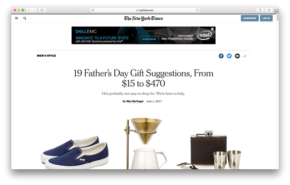 New York Times - 19 Father's Day Gift Suggestions