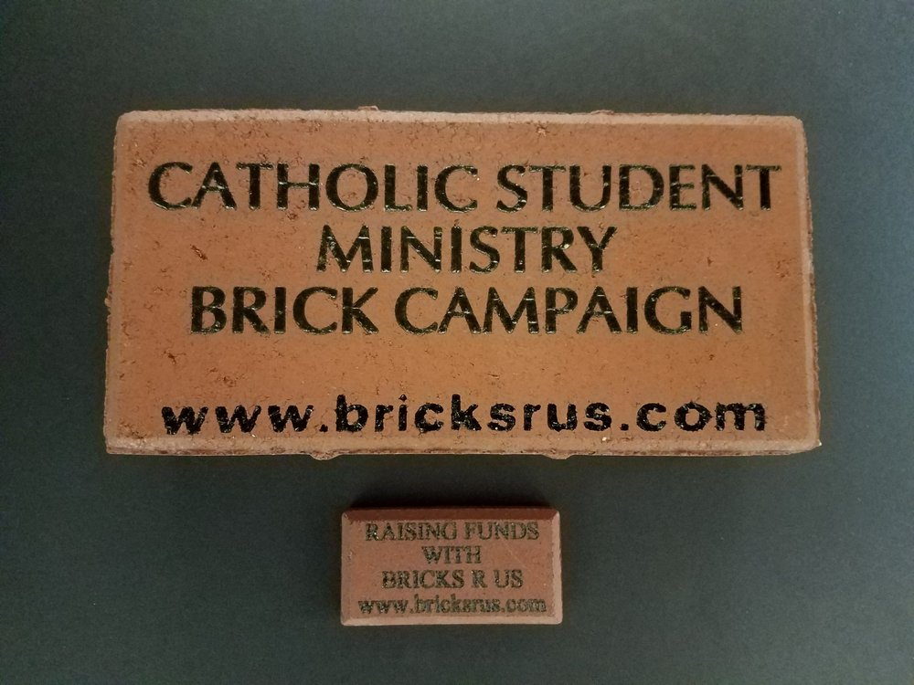 Your souvenir brick with have the same message engraved on it as your larger brick. This is just an example to show the small writing.