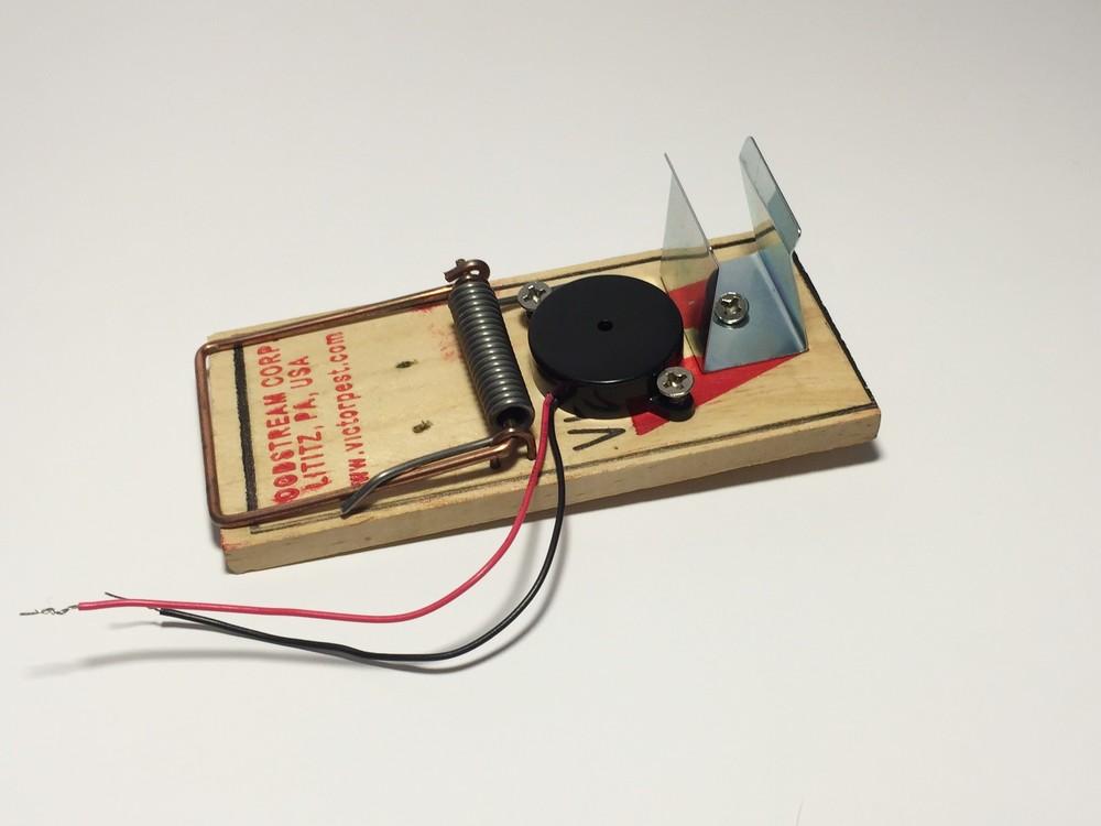 Attach buzzer and 9 volt battery holder