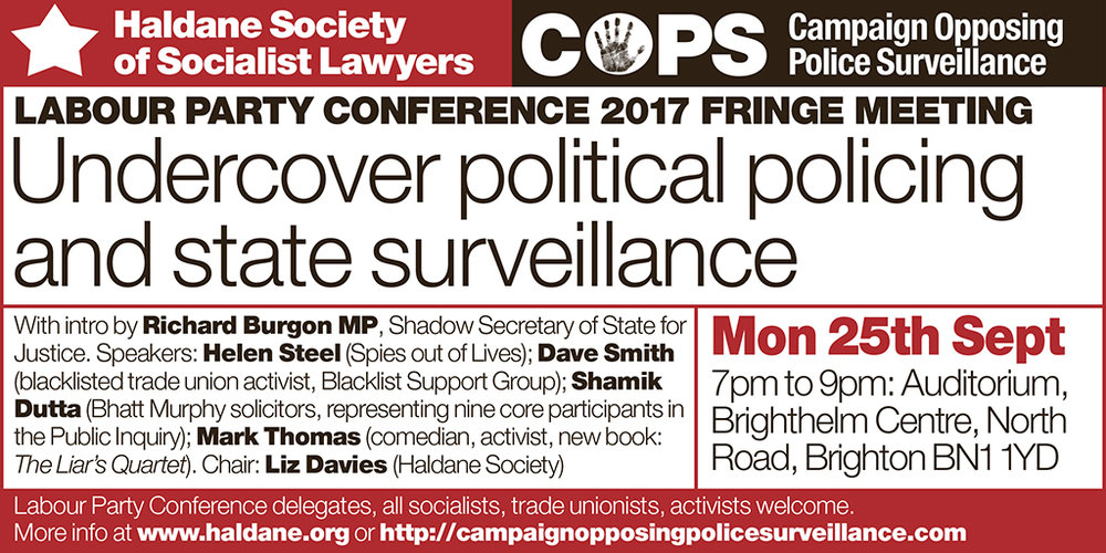 Haldane COPS Labour Party fringe meeting Twitter.jpg