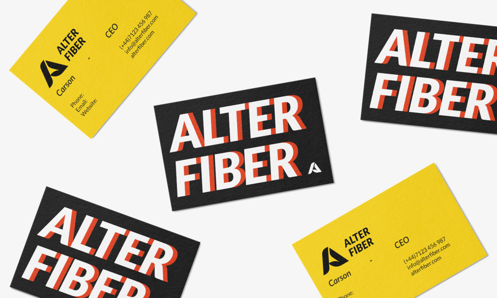 alter fiber business card design uk connor fowler cfowlerdesign