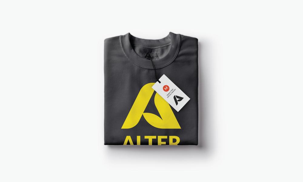 alter fiber clothing brand pullover logo design connor fowler cfowlerdesign uk