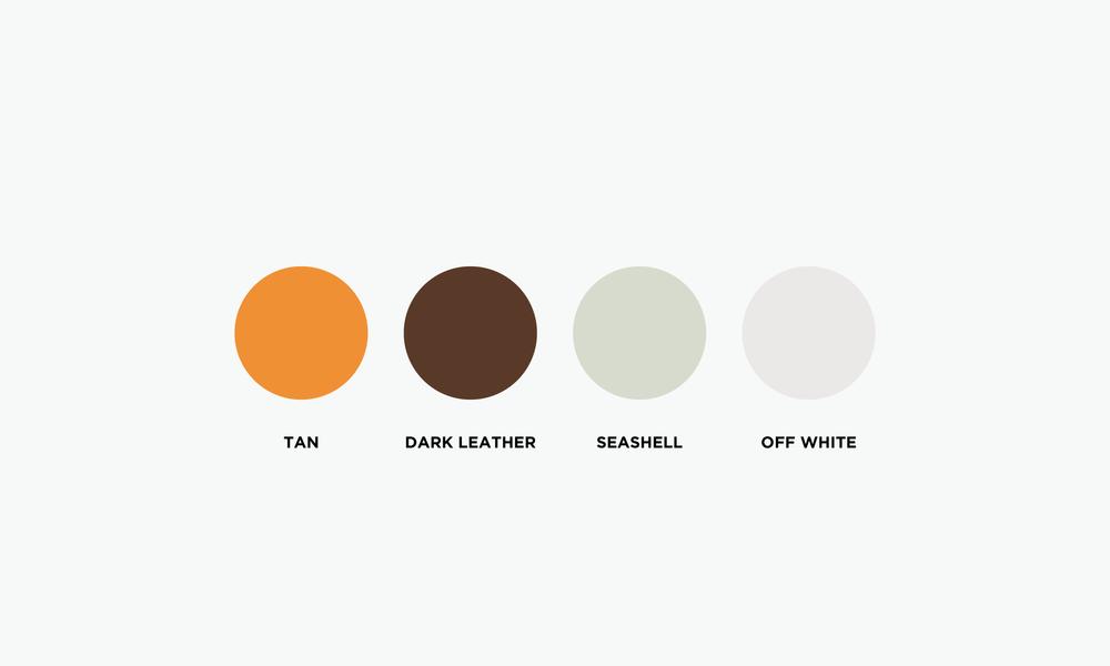 simple seasons leathercraft branding brand colour palette connor fowler cfowlerdesign uk