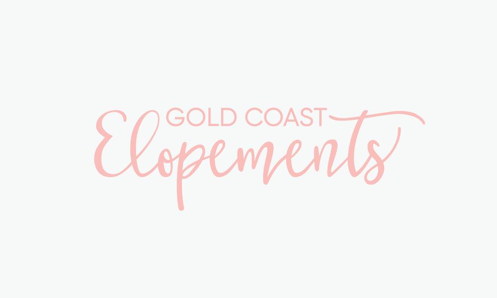gold coast elopements marriage celebrant custom lettering logo connor fowler cfowlerdesign uk