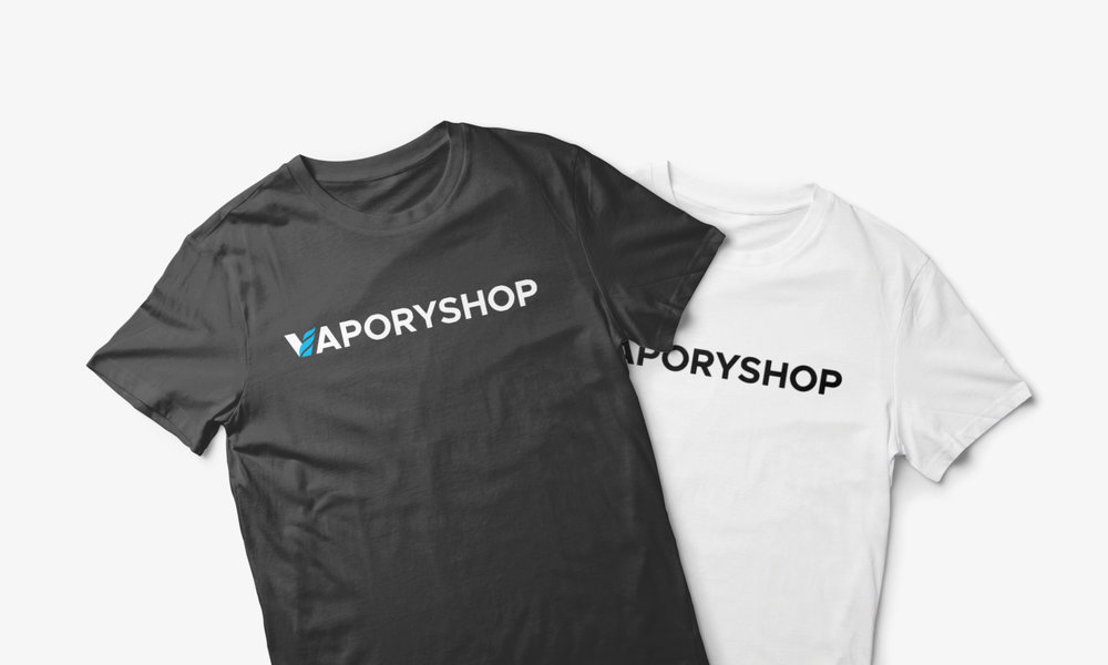 vapory shop clothing tshirt logo design wordmark cfowlerdesign connor fowler uk