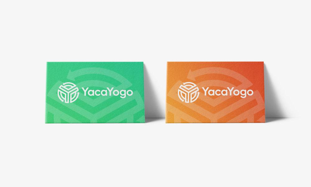 yacayogo international bank business card stationery design cfowlerdesign connor fowler uk