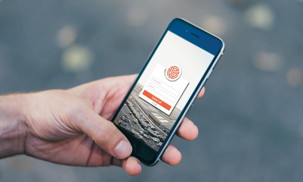 yacayogo international banking app logo ui design cfowlerdesign connor fowler