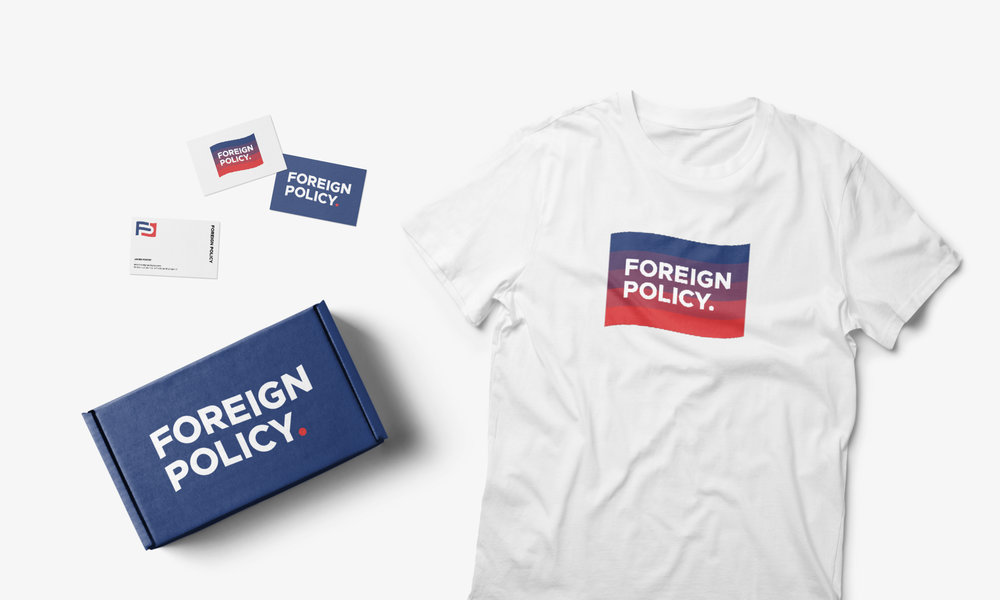 foreign policy clothing brand streetwear fashion tshirt business card design cfowlerdesign connor fowler uk