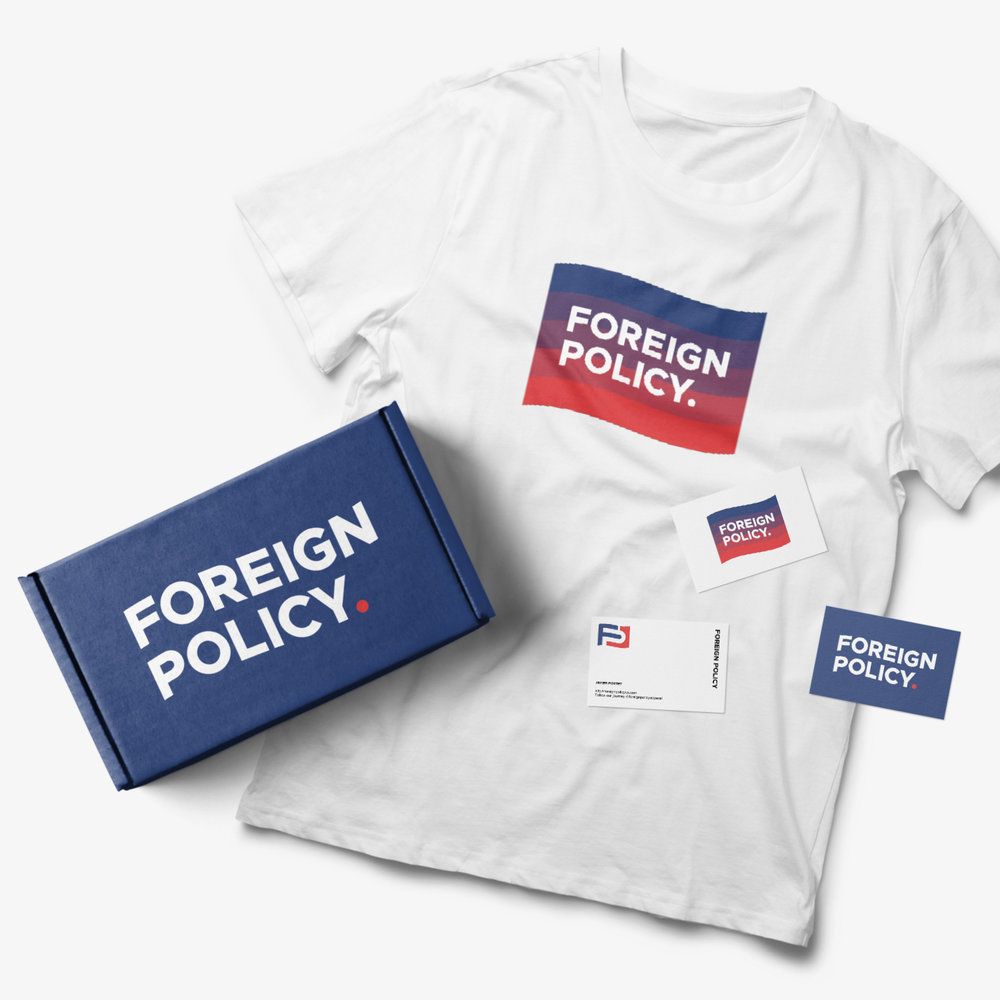 foreign policy clothing fashion brand tshirt box logo design connor fowler cfowlerdesign uk