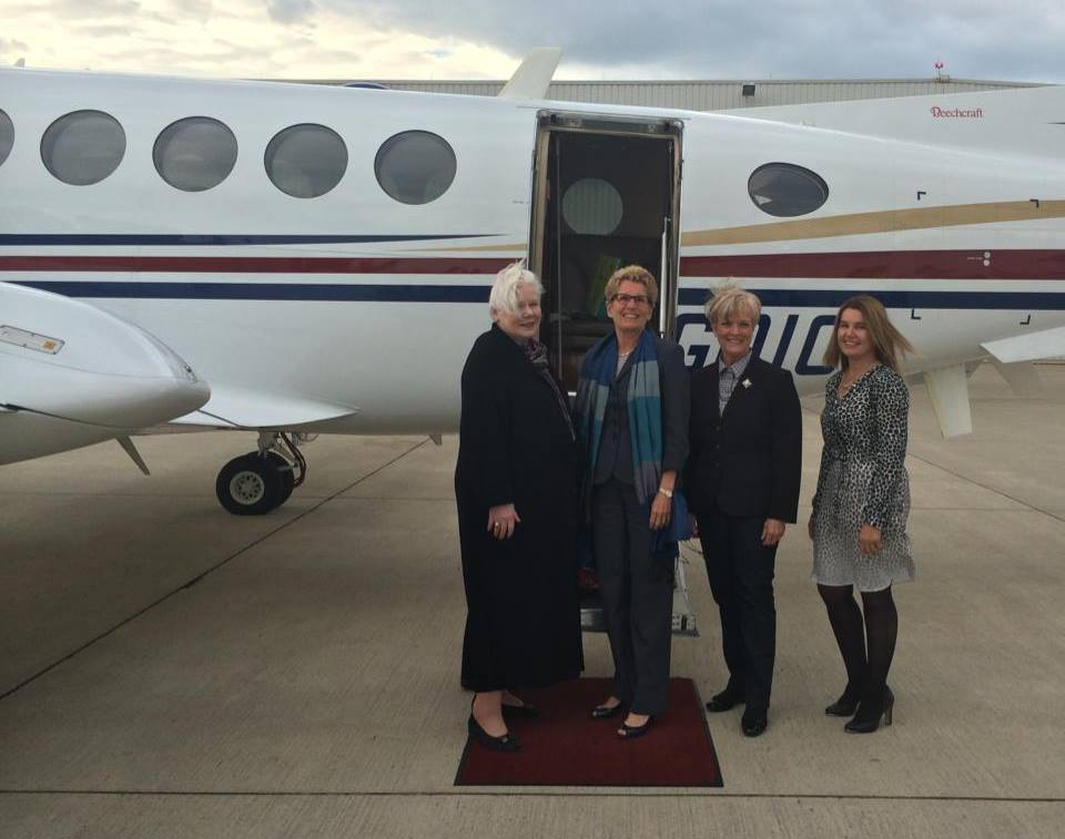 the Honourable Elizabeth Dowdesdewell, Premier Kathleen Wynn, the Honourable Ruth-Ann Onley and trip coordinator, Andrée Cazabon - Productions Cazabon