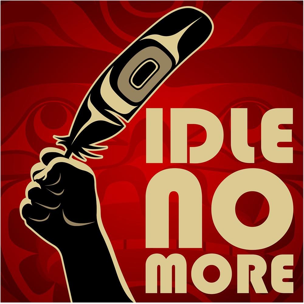Lisez CET ARTICLE qui discute l'histoire du MOUVEMENT   Jamais plus l'inaction   (Idle no more)