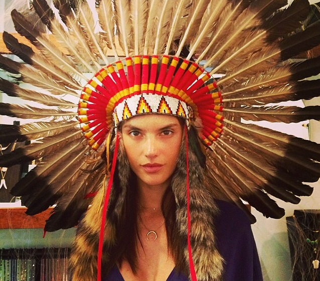The Native American headdress is a common sight at festivals. It is often at the centre of cultural appropriation debates as more fashion brands and stars such as Pharrell Williams wear them. READ