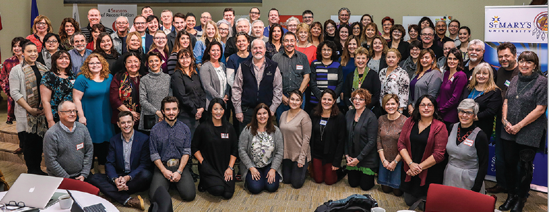 Group photo of all Truth and REconciliation Education Roundtable attendees