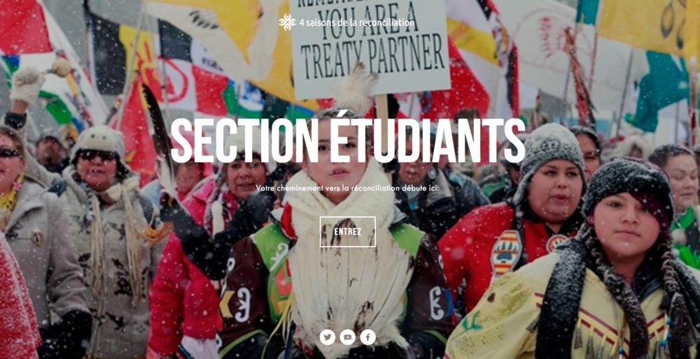 page section pour étudiants