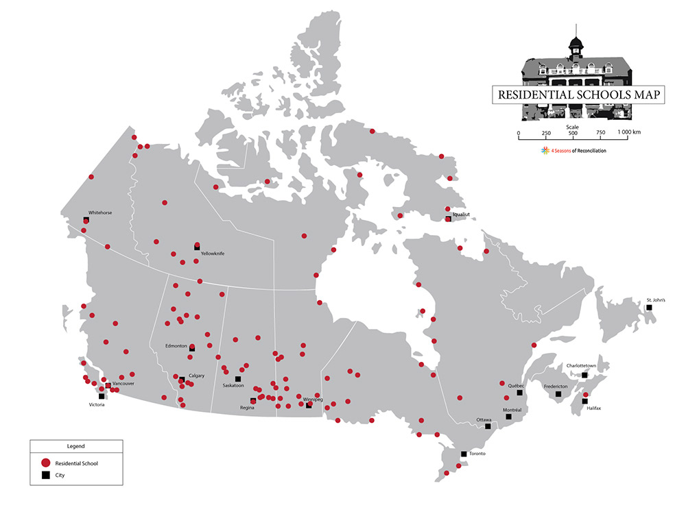 Residential Schools Map