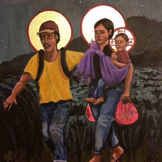"""Refugees la Sagrada Familia"" by Kelly Latimore. Used by permission."