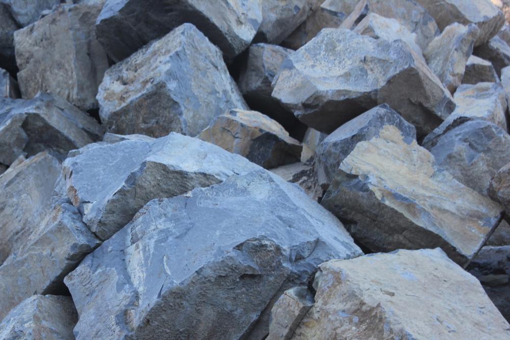 Basalt rocks boulders