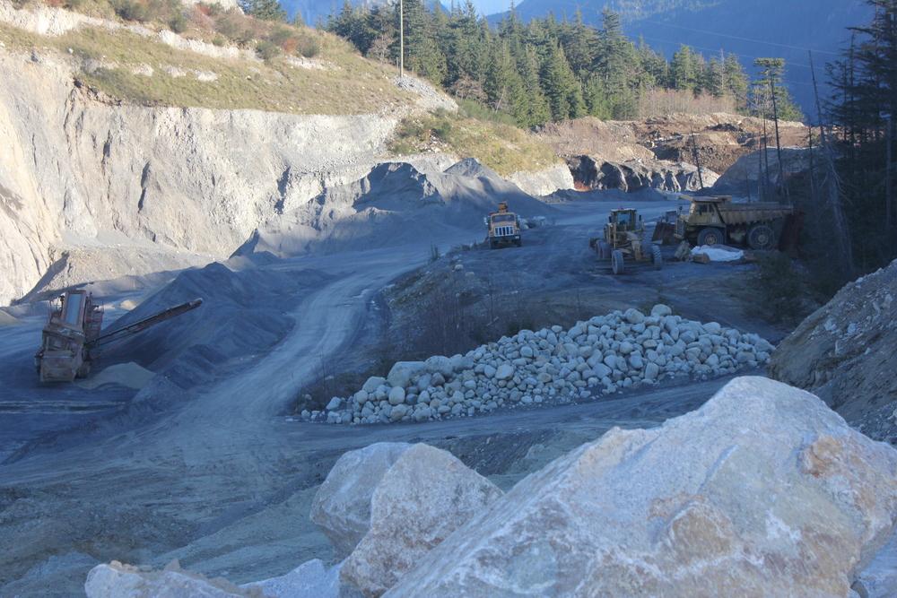 fill site construction rock dump truck