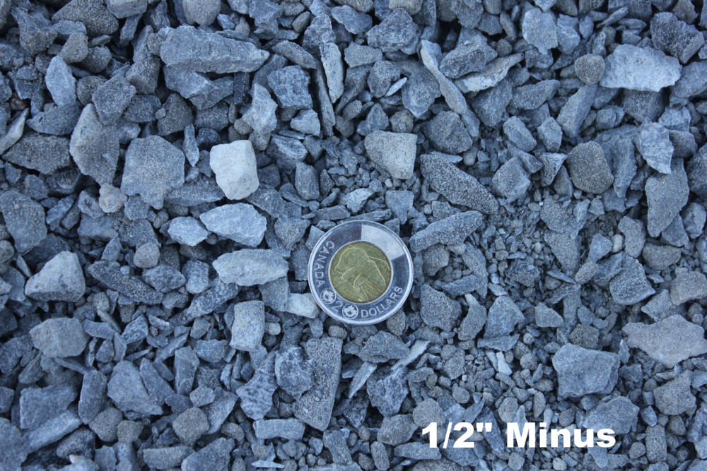 1/2 inch minus roadbase roads highway driveway gravel crushed rock
