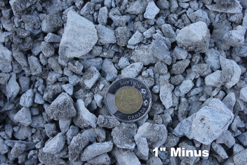 1 inch minus granite roadbase driveway highway gravel crushed rock