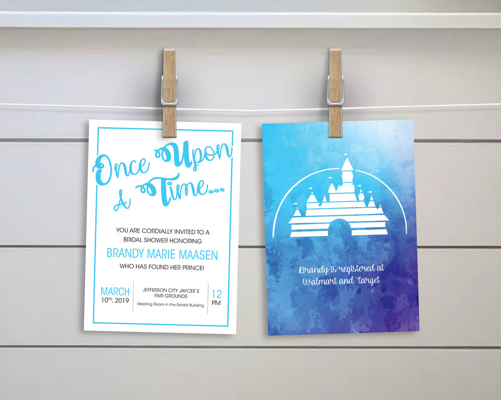 *I do not own rights to the Disney Castle, and I did not sell these cards. It was used personally and not for a profit.