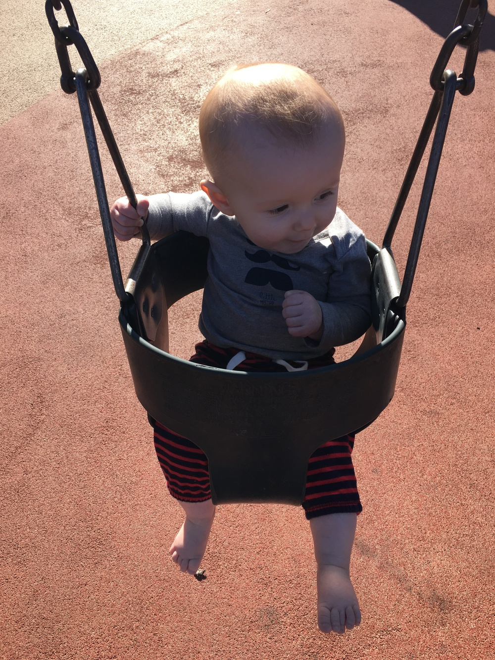 Baby First Time on Swing