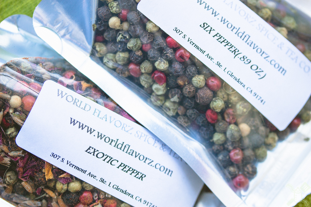 Wonderful peppercorns and spices