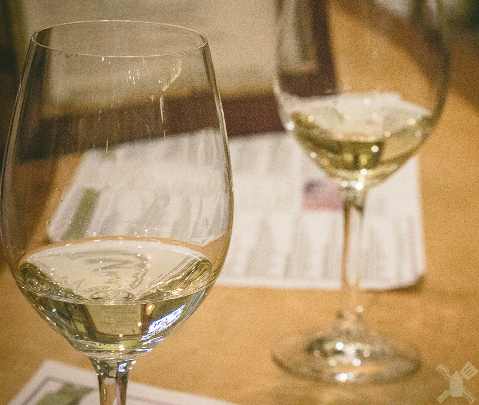 Two glasses of Chardonnay from Wattle Creek