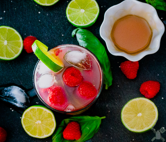 The ingredients of this raspberry basil mojito are just gorgeous!