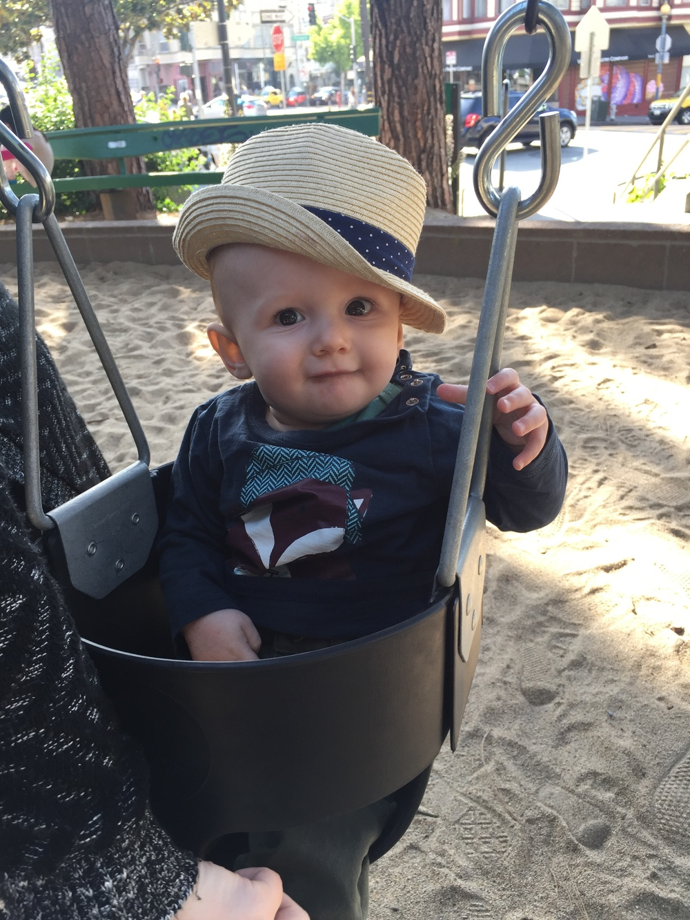 """I got a cool hat, this swing is fun, and I just laughed for about 30 minutes."""