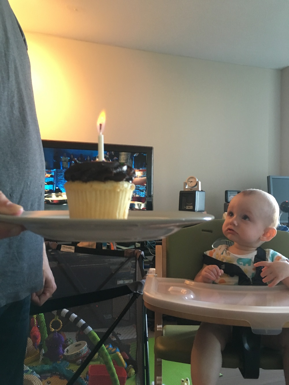 """Daddy, why is the cupcake on fire? And why are you singing?"""