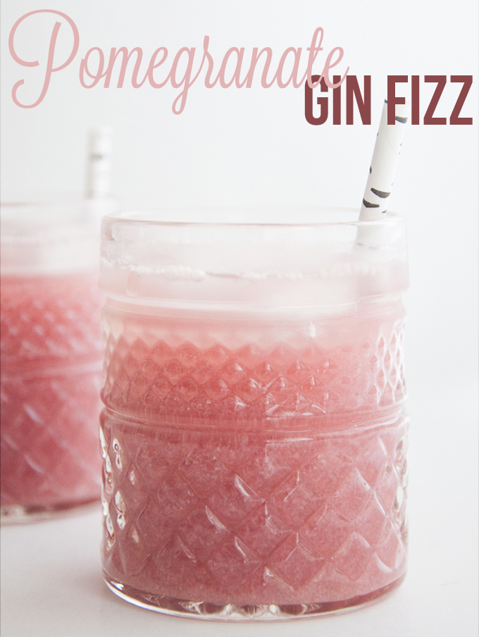 Pomegranate Gin Fizz to beat off that summer heat!
