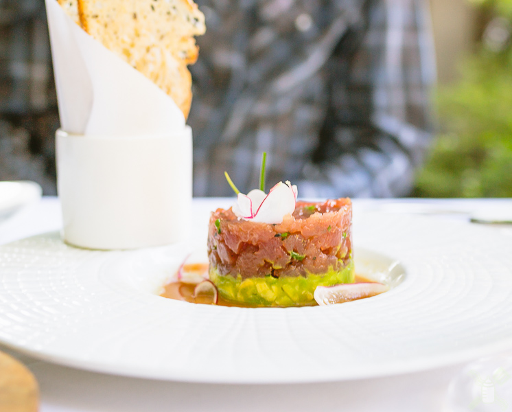 Amazing Tuna tartar from Dry Creek Kitchen