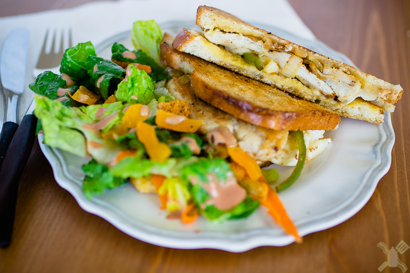 Apricot, jalapeno, and brie chicken sandwich with a strawberry and jalapeno red wine vinegar salad- Get the recipe on Monday!